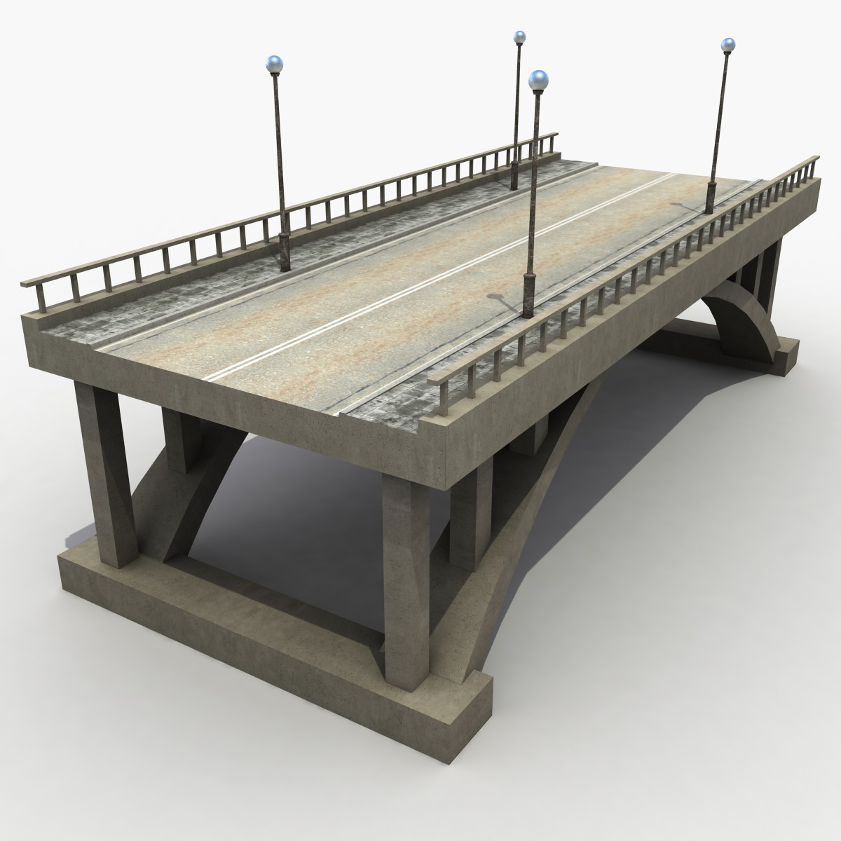 3d model Concrete Bridge