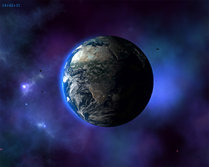 Screensaver Earth VS 3D : Space travel